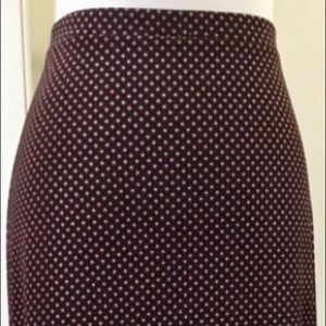 Michael Kors black red & white stretch waist skirt